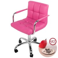Life Carver Breakfast Bar Stool PU Leather Barstool Kitchen Stools Chrome Office PC Chair (ROSE)