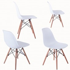 Retro Designer Style Eiffel Lounge Dining Chair(White)